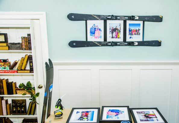 diy ski photo frame