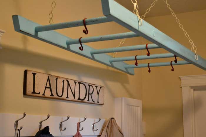 ladder drying rack for laundry room