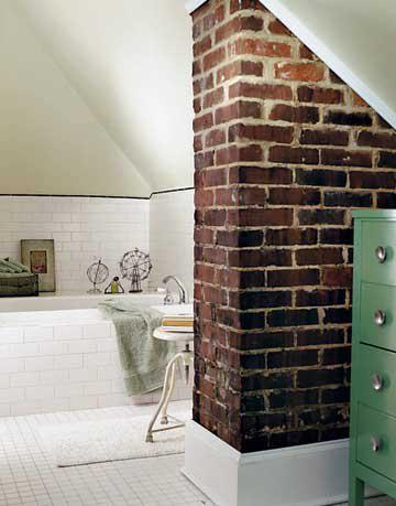 rustic industrial bathroom