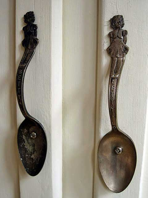 spoon cabinet pulls