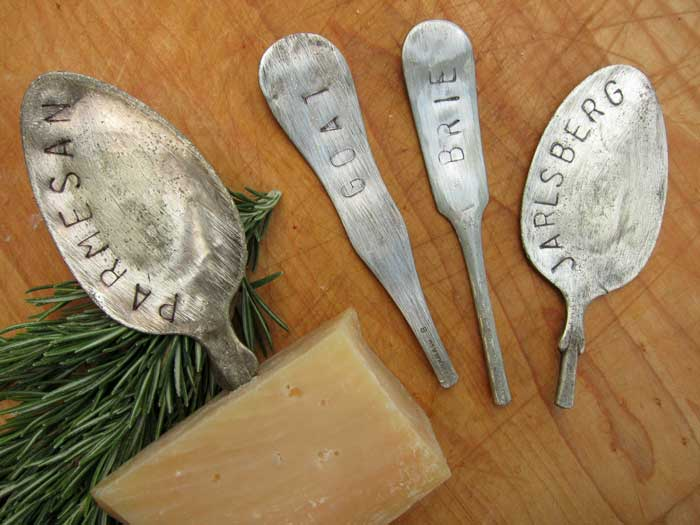 silverware cheese markers