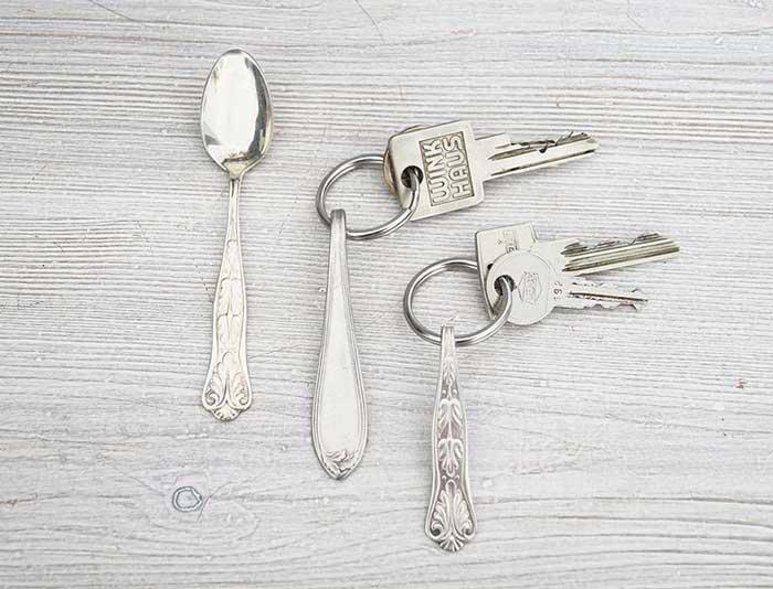 silverware keychains