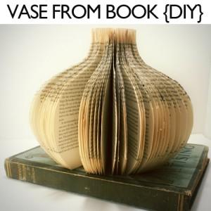 book page vase