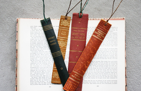 diy book spine bookmarks