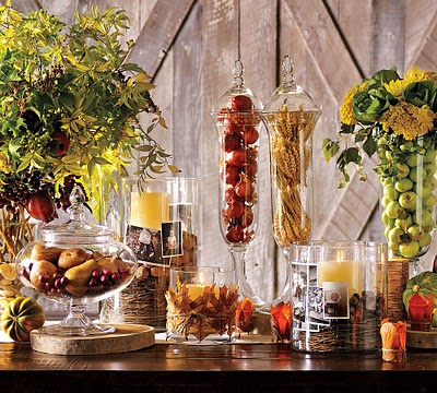 vase filler ideas - fruits and vegetables