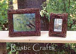 crafts with branches - birch branch picture frame
