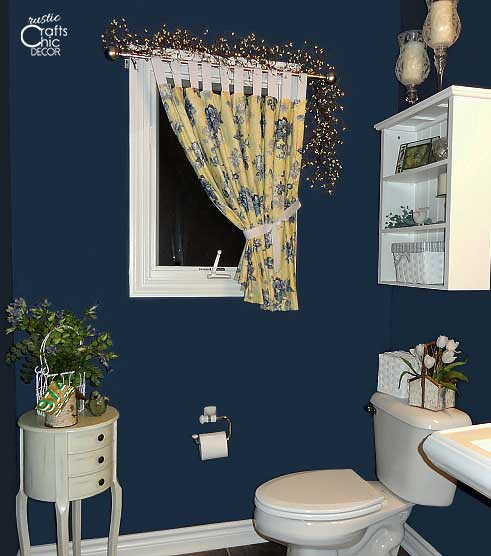 powder room ideas - bold blue powder room