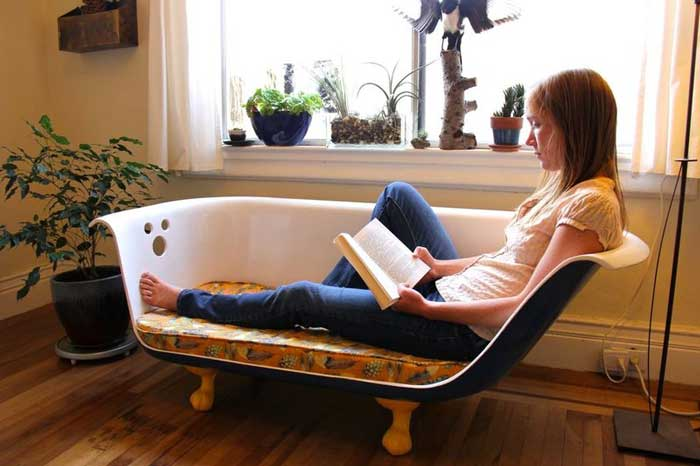 clawfoot bathtub couch