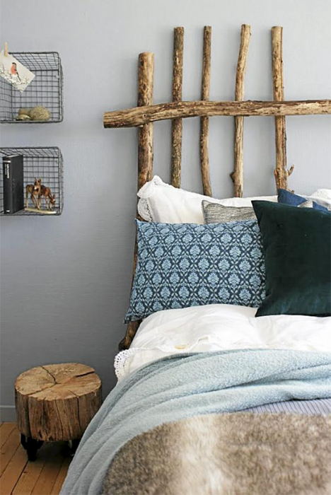 DIY headboard ideas -tree headboard