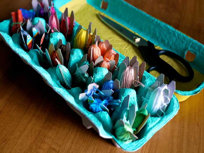 egg carton craft storage