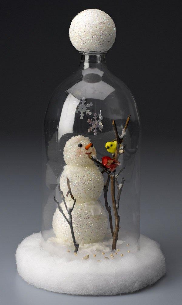 snowman cloche craft