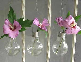 light bulb bud vases