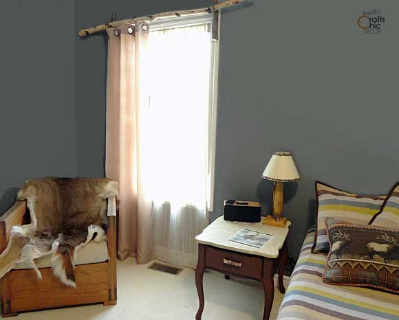 natural rustic color palette in boys bedroom
