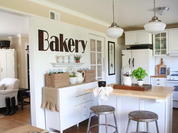 white kitchen with warm touches