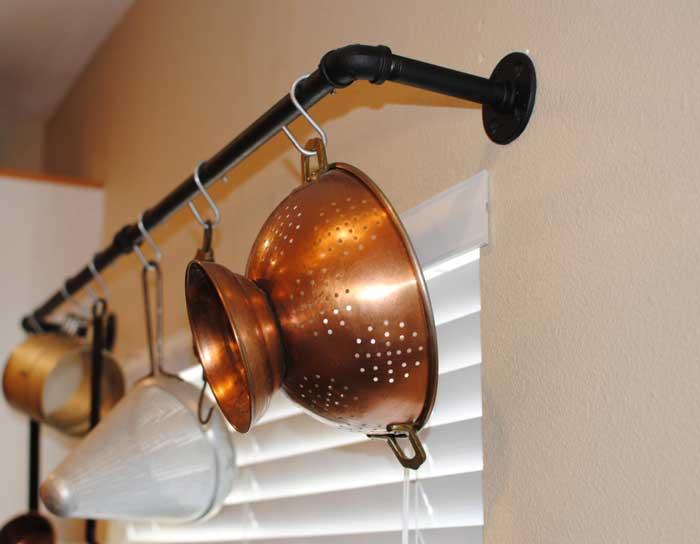 plumbers pipe pot rack