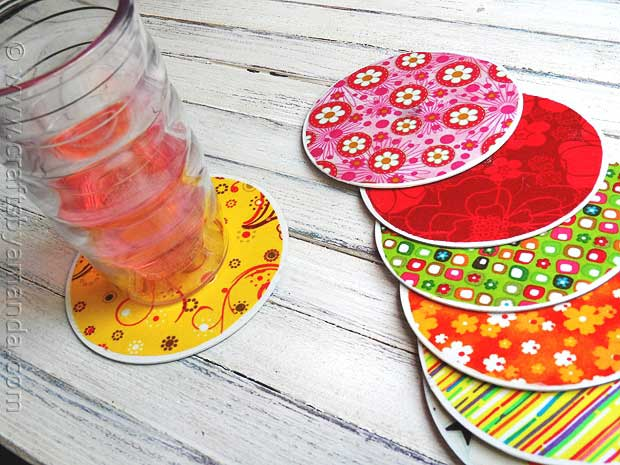 chic coasters made from old cds