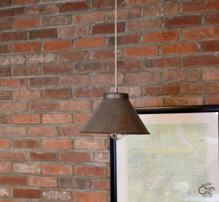 repurposed sifter pendant light