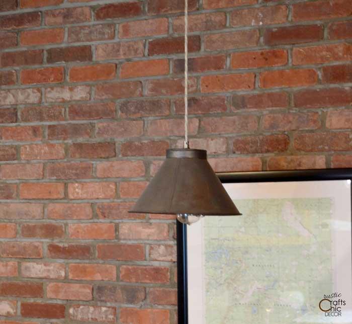 repurposed sifter pendant light