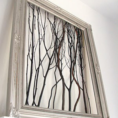 crafts with branches - framed branches