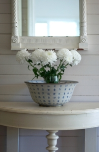small vignette in white