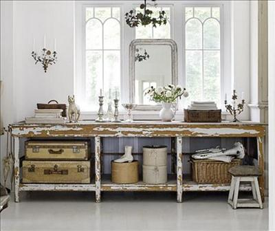 rustic accessories warm a bright white room