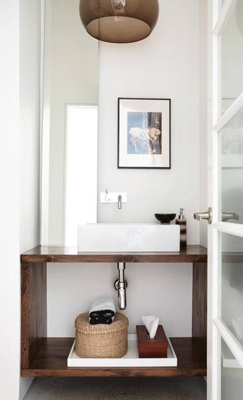 powder room ideas - sleek and minimal design