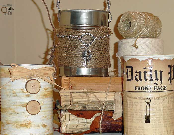 ways to repurpose - tin cans for decorative storage