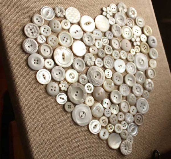 valentine button heart