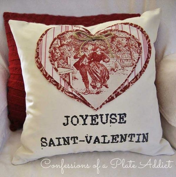 valentine pillow