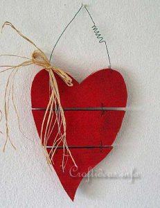 valentine rustic heart