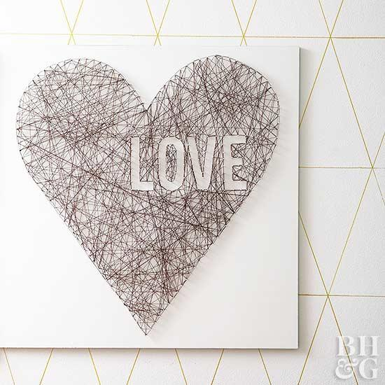 valentine string art