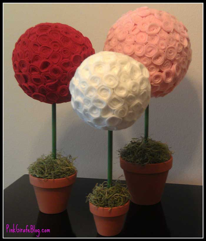 valentine topiaries