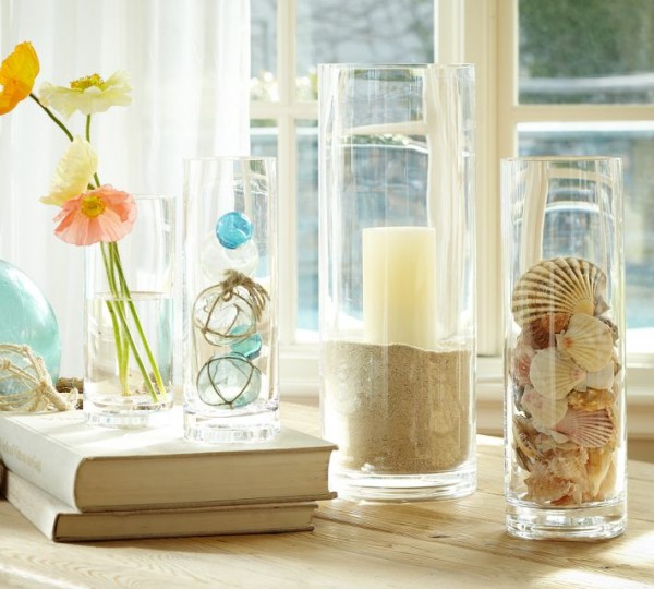 vase filler ideas - sea shells