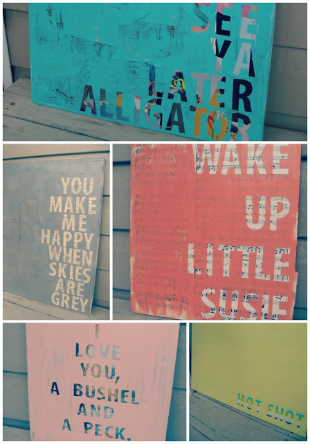 diy wall art - canvas collage