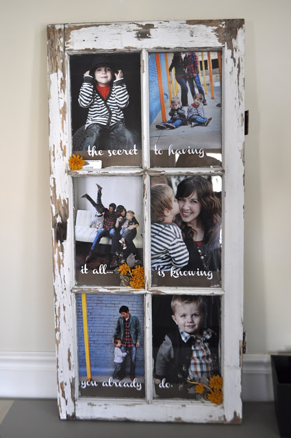diy wall art - old window picture frame