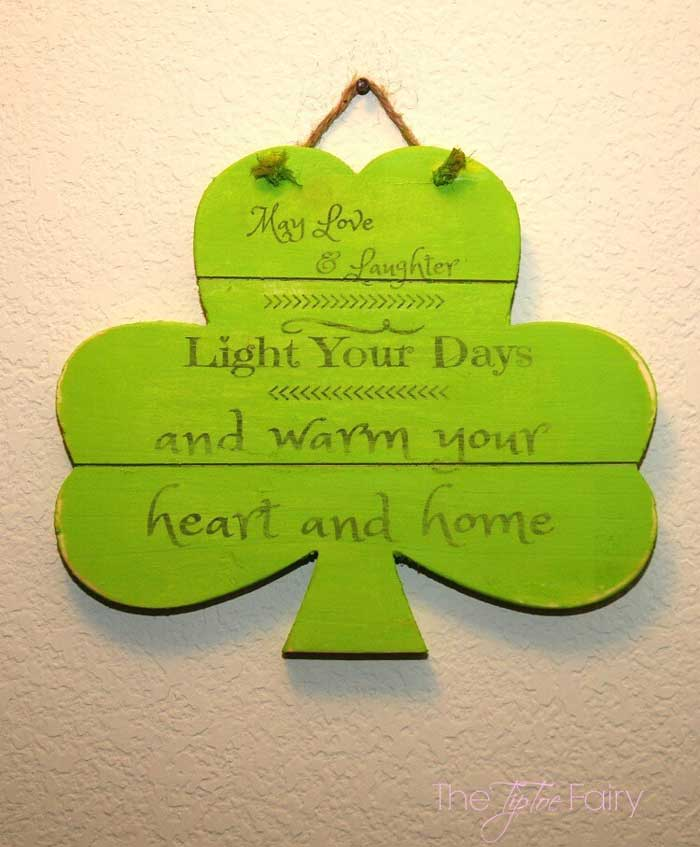 st. patricks day blessing plaque