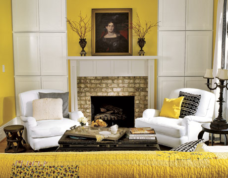 decorating with yellow - sunny living room