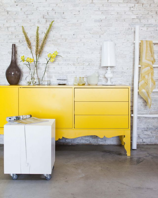 bright yellow furniture