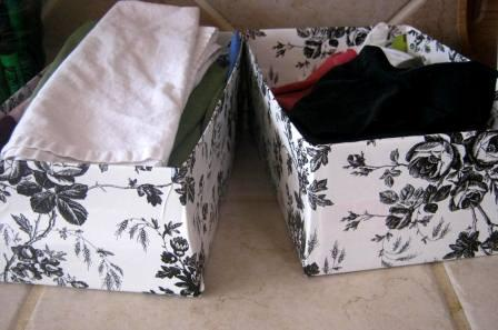 shoebox container ideas
