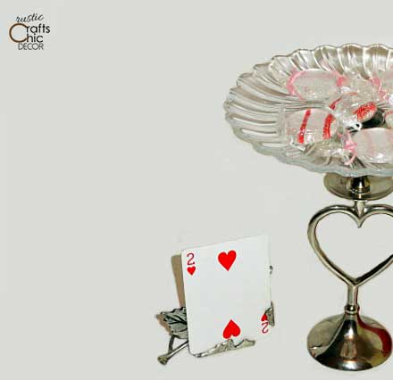 homemade valentine decorations with playing cards
