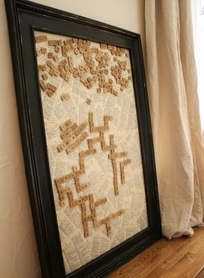 diy wall art - magnetic scrabble board