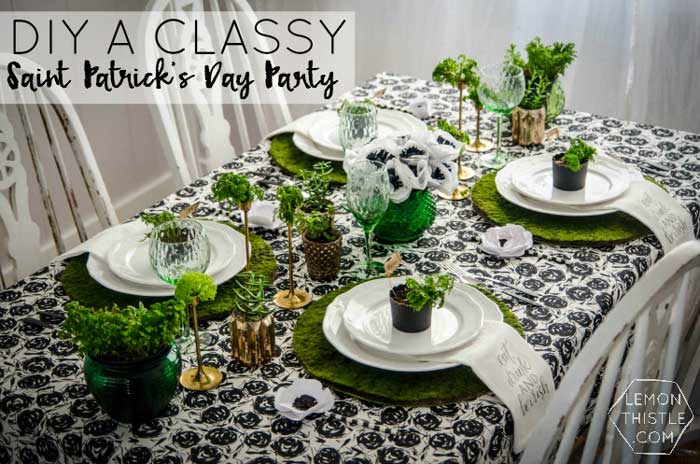 St. Patricks day crafts - dinner party ideas