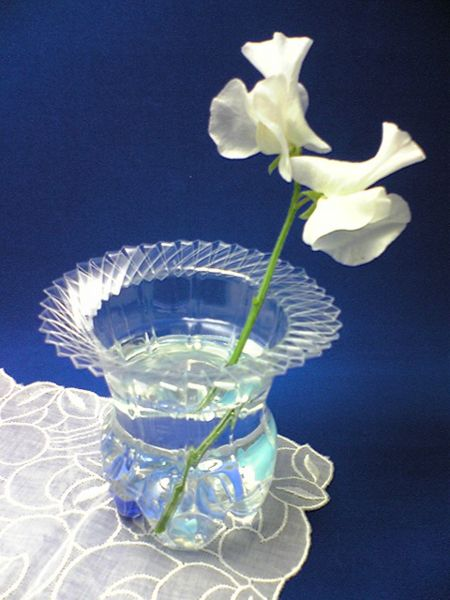 plastic bottle crafts - make a non breakable vase