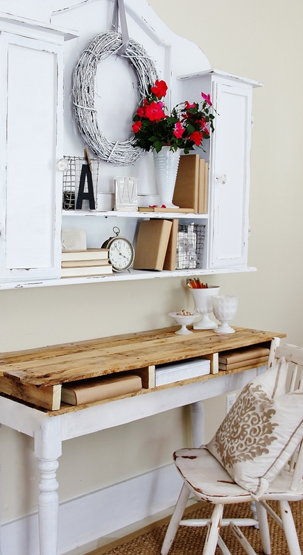 pallet desk designs - pallet top desk