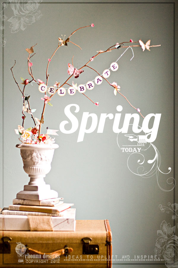 spring crafts - airy centerpiece