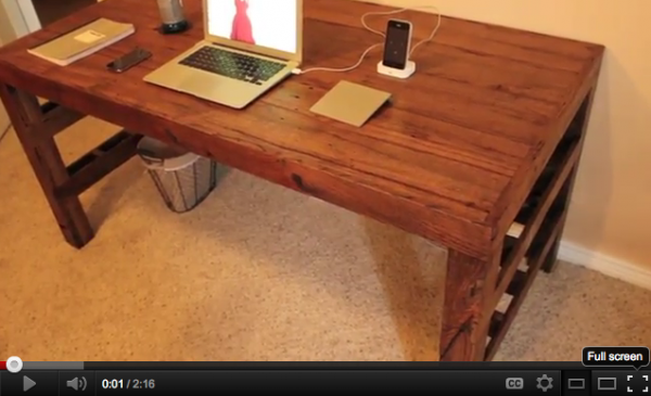 pallet desk designs - DIY pallet desk video