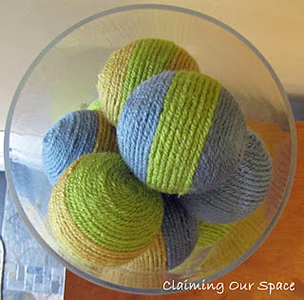 yarn covered balls