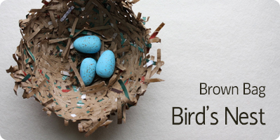 spring crafts - paper bag nest