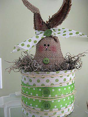 spring crafts - burlap bunny