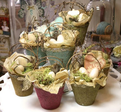 easter crafts - rustic baskets